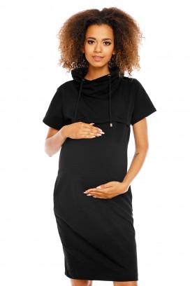 Čierne tehotenské šaty model 94422 pB