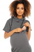 Šedé tehotenské šaty model 94426 pB