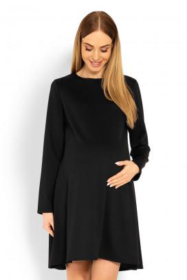 Čierne tehotenské šaty model 114511 Pb
