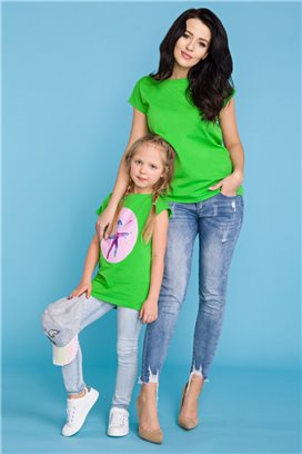 MMM20-1 Zelené tričko - mama