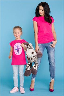 MMD20-2 Ružové tričko s motívom baletky - dcérka