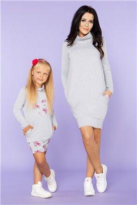 MMM23-2 Šedé športové šaty - mama
