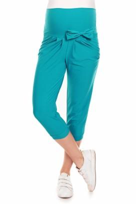 Tehotenské capri nohavice zelená model 132610 Pb