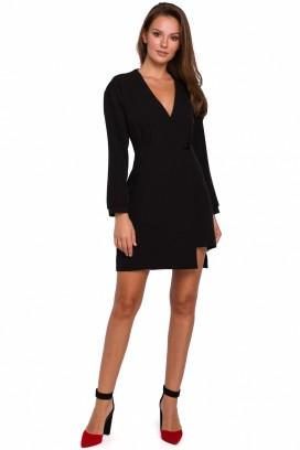 Krátke čierne šaty model 138683 MR