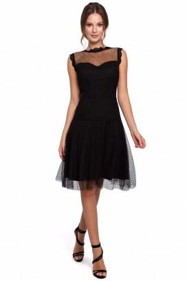 Krátke čierne spoločenské šaty model 138690 MR