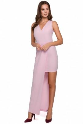 Ružové spoločenské šaty model 138706 MR