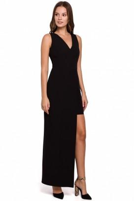 Čierne spoločenské šaty model 138707 MR