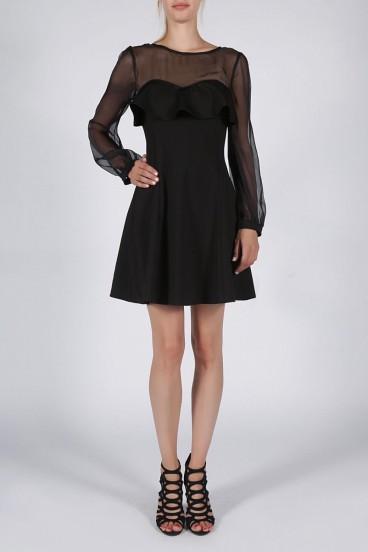Krátke čierne spoločenské šaty model 124674 yS