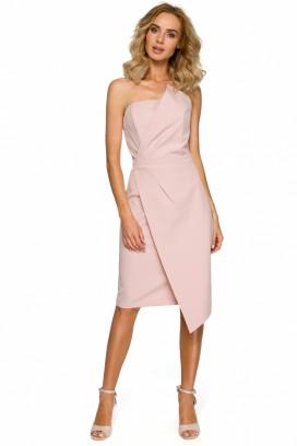 Krátke ružové korzetové šaty model 125332 ME