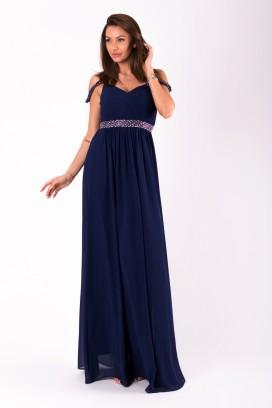 Dlhé tmavomodré spoločenské šaty model 125246 ys