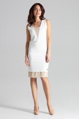 Krátke biele púzdrové šaty model 131227 lf