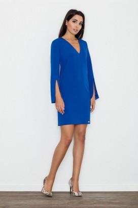 Krátke modré šaty s prestrihnutými rukávmi model 111127 fl