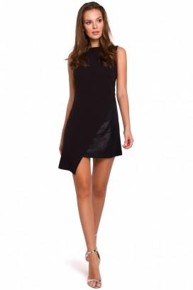 Krátke čierne spoločenské šaty model 138503 MR