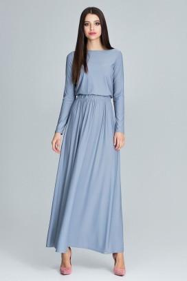 Dlhé modré šaty model 116271 fl