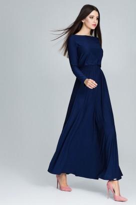 Dlhé tmavomodré šaty model 116272 fl