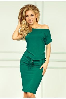 56-5 Krátke zelené športové šaty s krátkam rukávom