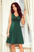 238-2 Krátke zelené šaty s kruhovou sukňou