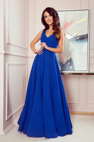 246-3 Dlhé modré spoločenské šaty