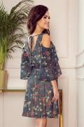 292-2 Krátke kvietkované šaty MARINA