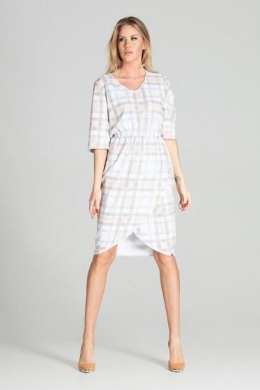 Dámske krátke šaty kárované model 141741 fl